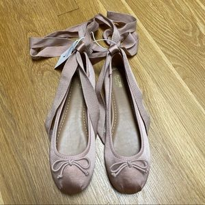 Mossimo Dusty Pink Ballet Style Shoes 7